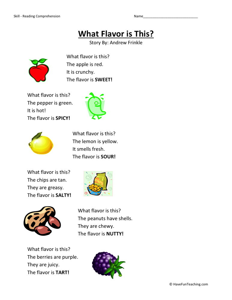 Reading Comprehension Worksheets For Kindergarten And First Grade – Comprehension Worksheets Kindergarten