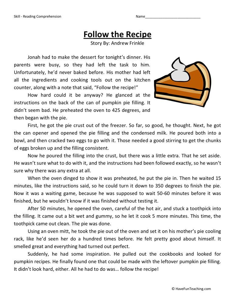 Grade Reading prehension Worksheets on reading comprehension 5th grade ...