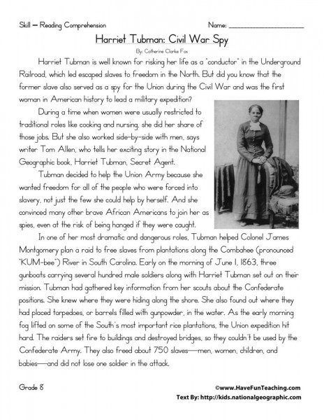 harriet tubman essays