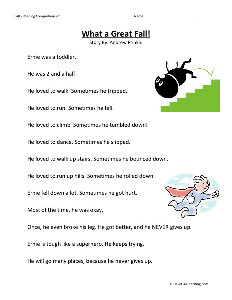 ... fall download category second grade reading comprehension worksheets
